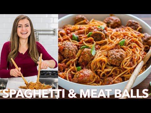 How To Make Spaghetti And Meatballs Recipe | Homemade Marinara Sauce