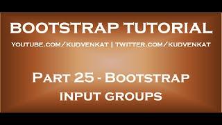 Bootstrap input groups thumbnail