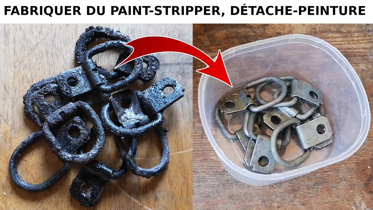 Comment enlever la peinture de pièces en métal: quincaillerie, ... - YouTube