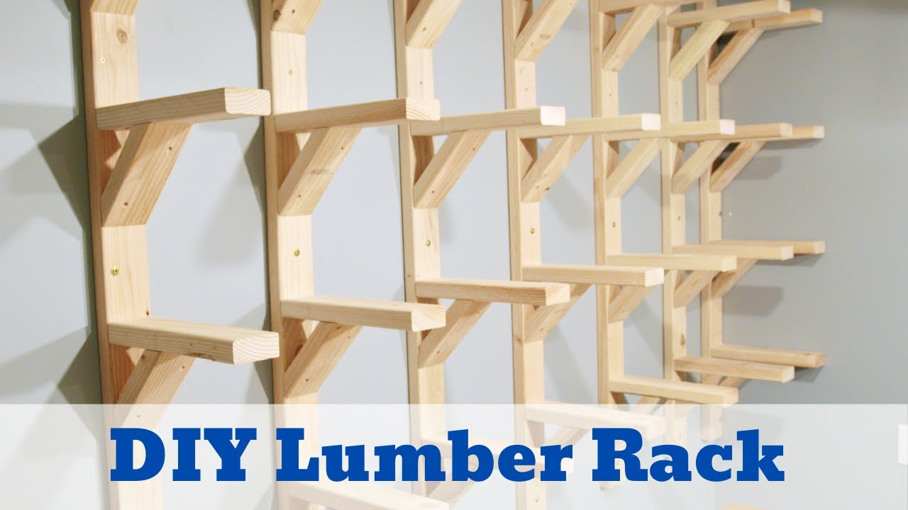 how to build a diy lumber rack free downloadable plans included