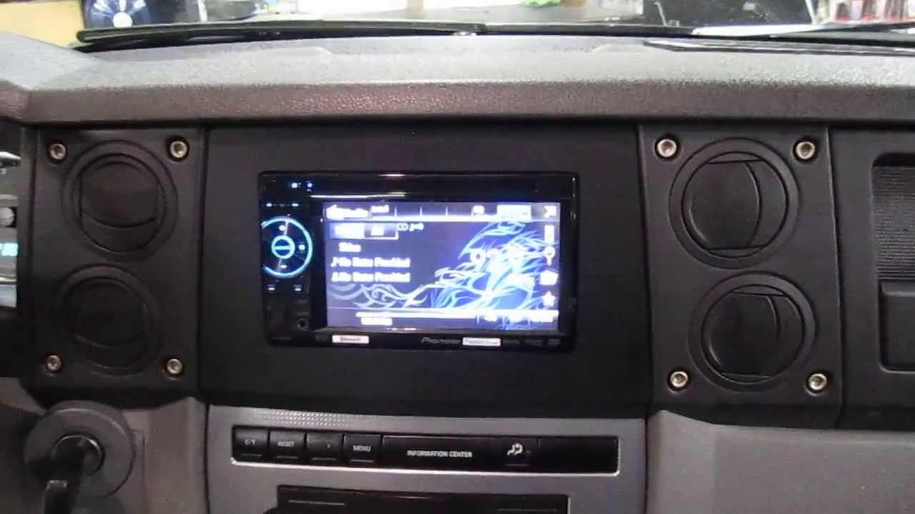 Jeep Commander 2006 2007 Double Din Ii Din Dash Kit Youtube