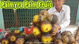 Street Food Vietnam 2017 - Palmyra Palm Fruit Recipe - Cach an trai Thot Not
