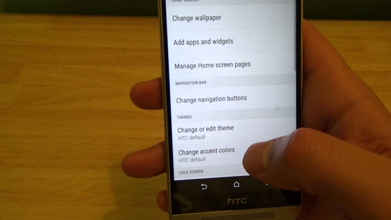 How To Change Navigation Buttons Bottom Of Phone Htc One M9 Youtube