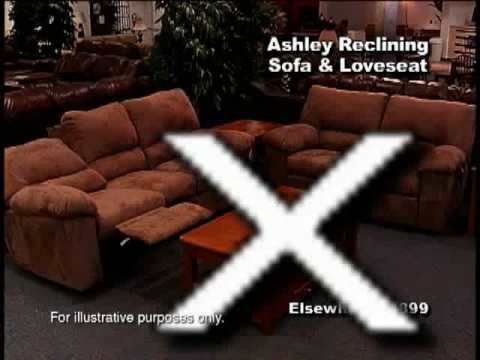 Ashley Furniture Reclining Sofa And Loveseat For Only $799 Commercial For  HomeMart