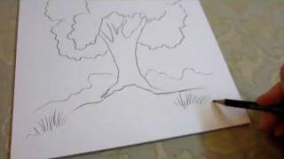 How To Draw a Tree - easy, quick and simple