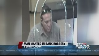 South Tucson Police searching for bank robbery suspect