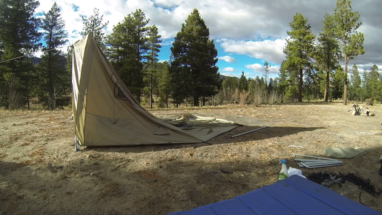 Winter C&ing Cabelau0027s Big Horn III Tent Set Up & Winter Camping: Cabelau0027s Big Horn III Tent Set Up - YouTube