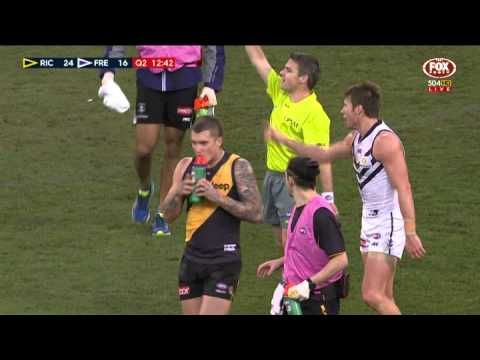 Dustin Martin's costly spray - AFL