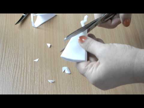 снежинка из бумаги №1 Snowflake Paper