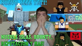 BE PIRATA,MARINE or R.A!,JEFE YETI, NEW ISLANDS AND MORE! Roblox: One Piece Millenium English