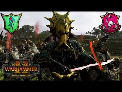 THE VAMPIRE COAST ARRIVES! - Lokhir Fellheart vs. Count Noctilus - Total War Warhammer 2 DLC