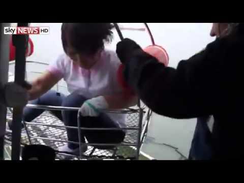 South Korea Ferry Sinking  Coastguard Video Of Rescue Operation