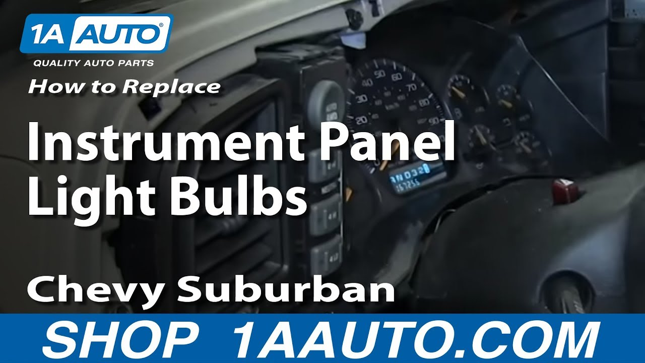 how to replace instrument panel light bulbs 2000 06 chevy suburban and tahoe [ 1280 x 720 Pixel ]