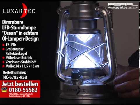 lunartec dimmbare led sturmlampe ocean in echtem l lampen design youtube. Black Bedroom Furniture Sets. Home Design Ideas