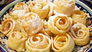 Нежные Розочки из Хвороста ✧ Хрустящие с Ванильным ароматом
