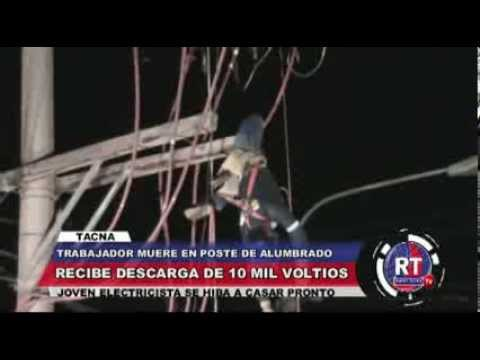 MUERE ELECTROCUTADO EN POSTE DE MEDIA TENSION