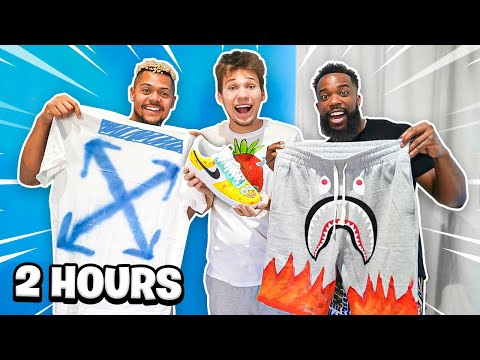 2HYPE 2 HOUR CUSTOM OUTFIT DIY CHALLENGE!