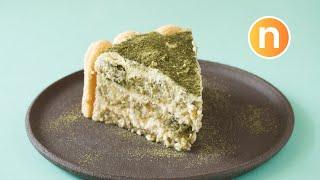 Matcha Tiramisu Cake   No-Bake Matcha Cake [Nyonya Cooking]