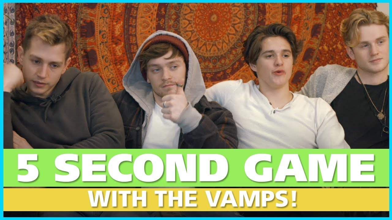 The 5 Second Game With The Vamps Youtube