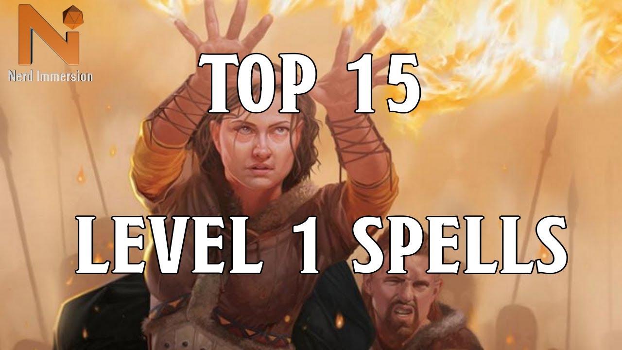 Top 15 D&D 5e 1st Level Spells | Nerd Immersion