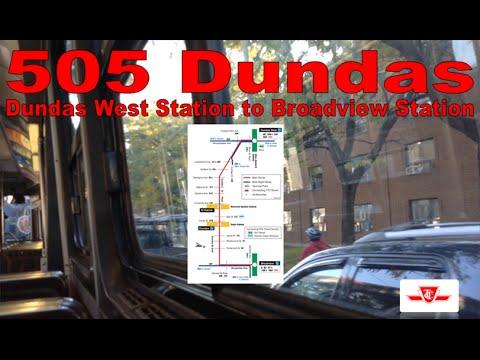 505 Dundas - TTC 1977-1980 UTDC CLRV 4151 (Dundas West Station to Broadview Station)