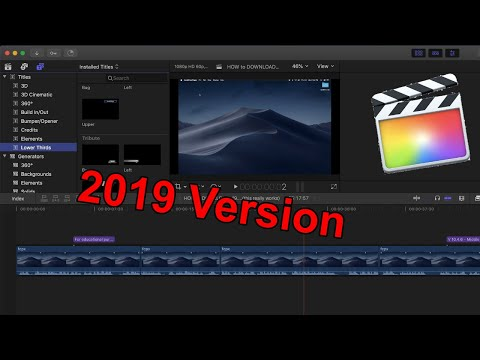 How To Download Final Cut Pro X - Latest Version 2019 [MAC] (not A Free Trial)