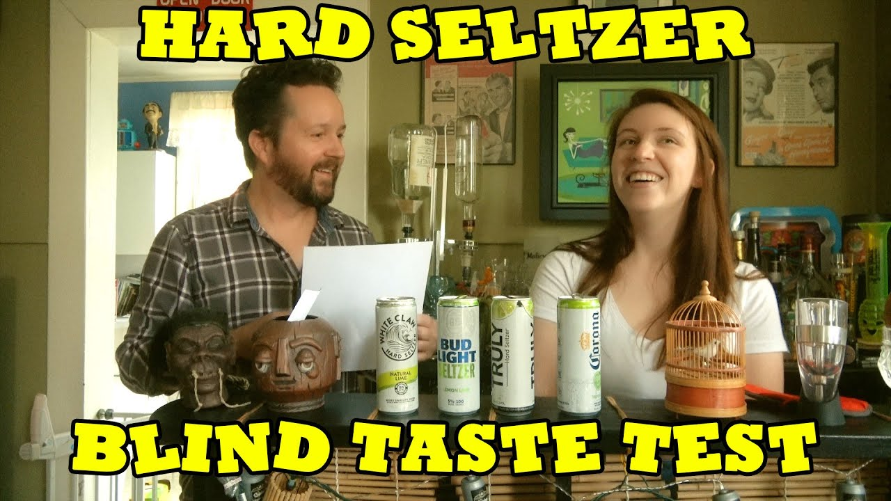 HARD SELTZER BLIND TASTE TEST - Lime flavors of White Claw, Truly, Bud Light, and Corona