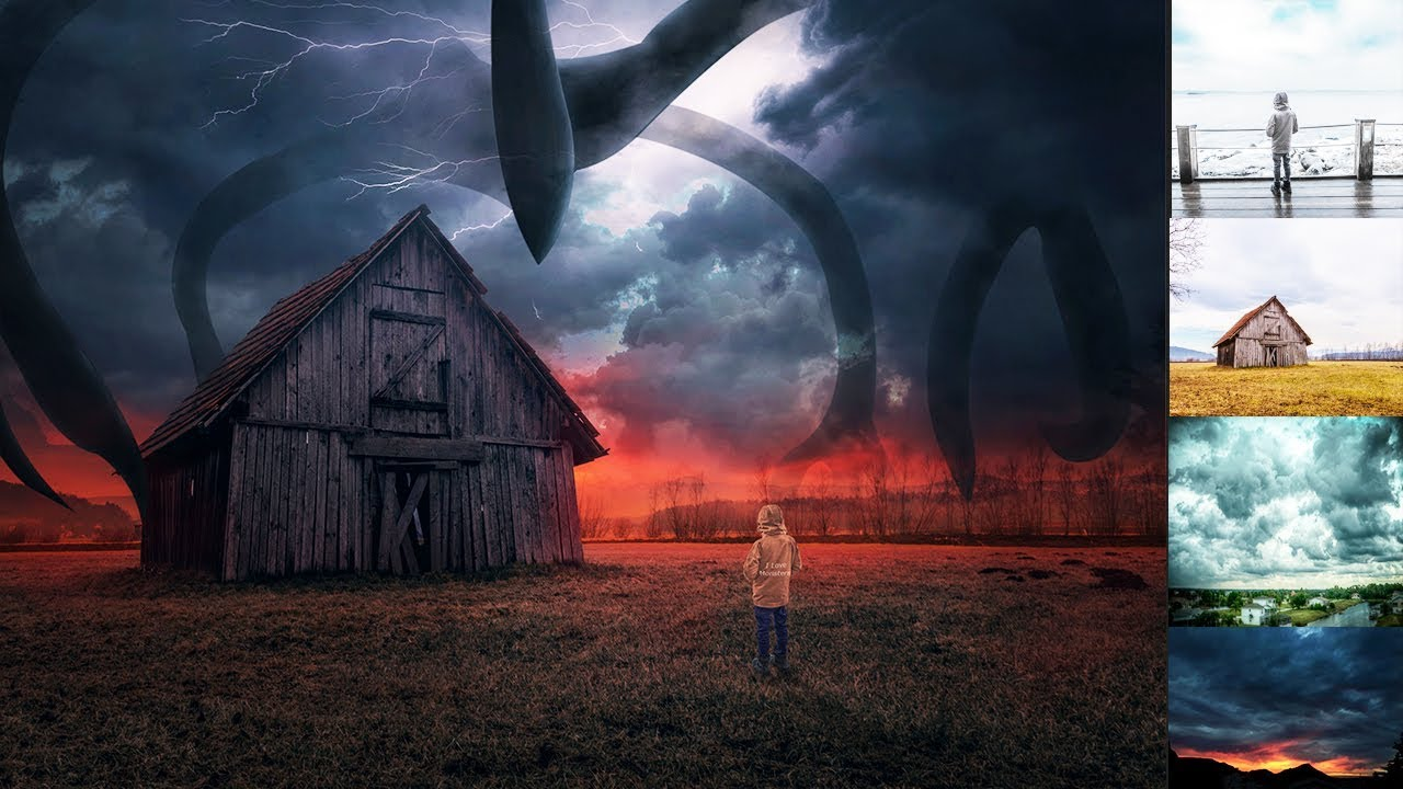 Photoshop Manipulation Stranger Things 3 | Shadow Monster - YouTube