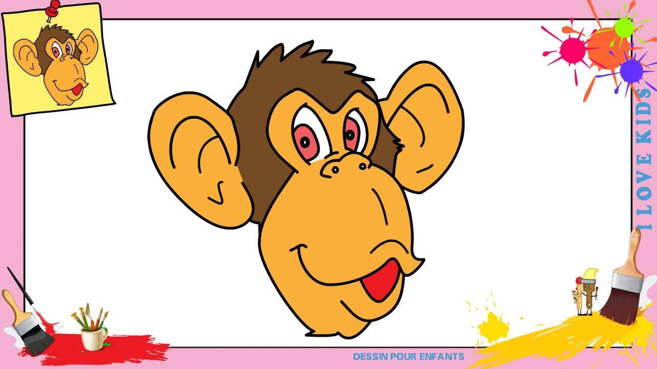 Comment dessiner un singe visage facilement etape par - Singe a dessiner ...