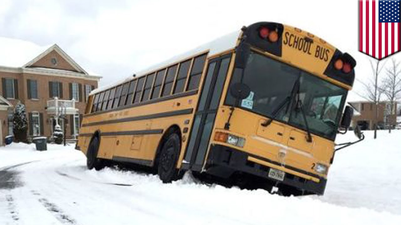 12 Buses Crash In Snow Driving Fail Fairfax And Loudoun Schools