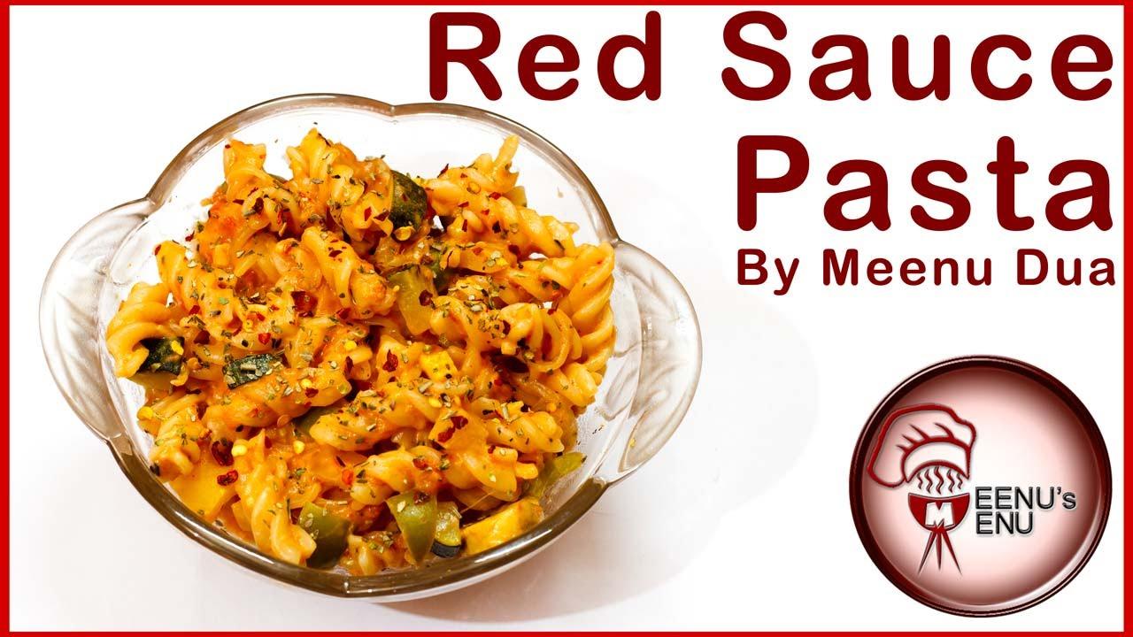 Red white sauce pasta recipe