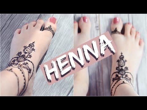 HENNA Tattoo AM FUSS Tutorial | ViktoriaSarina