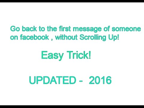 How to see the first messages on Facebook [UPDATED] - YouTube
