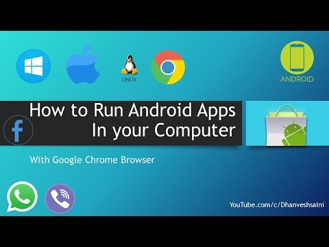 How to Run Android Apps In your Pc with Google Chrome Browser