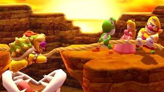 Mario Party The Top 100 - MiniGames - Yoshi vs Peach vs Waluigi vs Wario (Master Cpu)