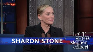 Sharon Stone Is Proof That Women Can Play Roles Written For Men by : The Late Show with Stephen Colbert