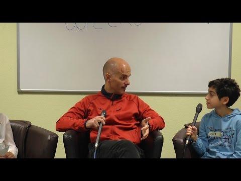 Christoph Maria Herbst im Interview mit der Video AG der Erich-Kästner-Gesamtschule, Kranichstein