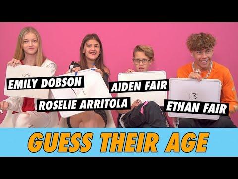 Roselie Arritola, Ethan Fair, Aiden Fair & Emily Dobson - Guess Their Age