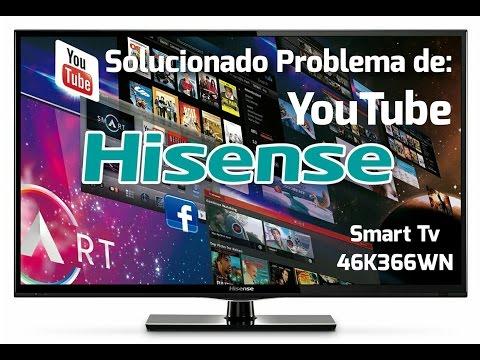 Solucion al problema de Youtube en Smart Tv Hisense Modelo 46K366WN (Actualizacion de Firmware)