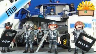 SEK & POLIZEI UMZUG - NEUES TRAININGSCENTER - Playmobil Film deutsch - FAMILIE Bergmann