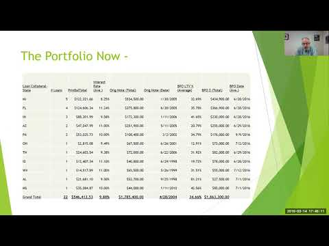 Making a living in mortgage note investing