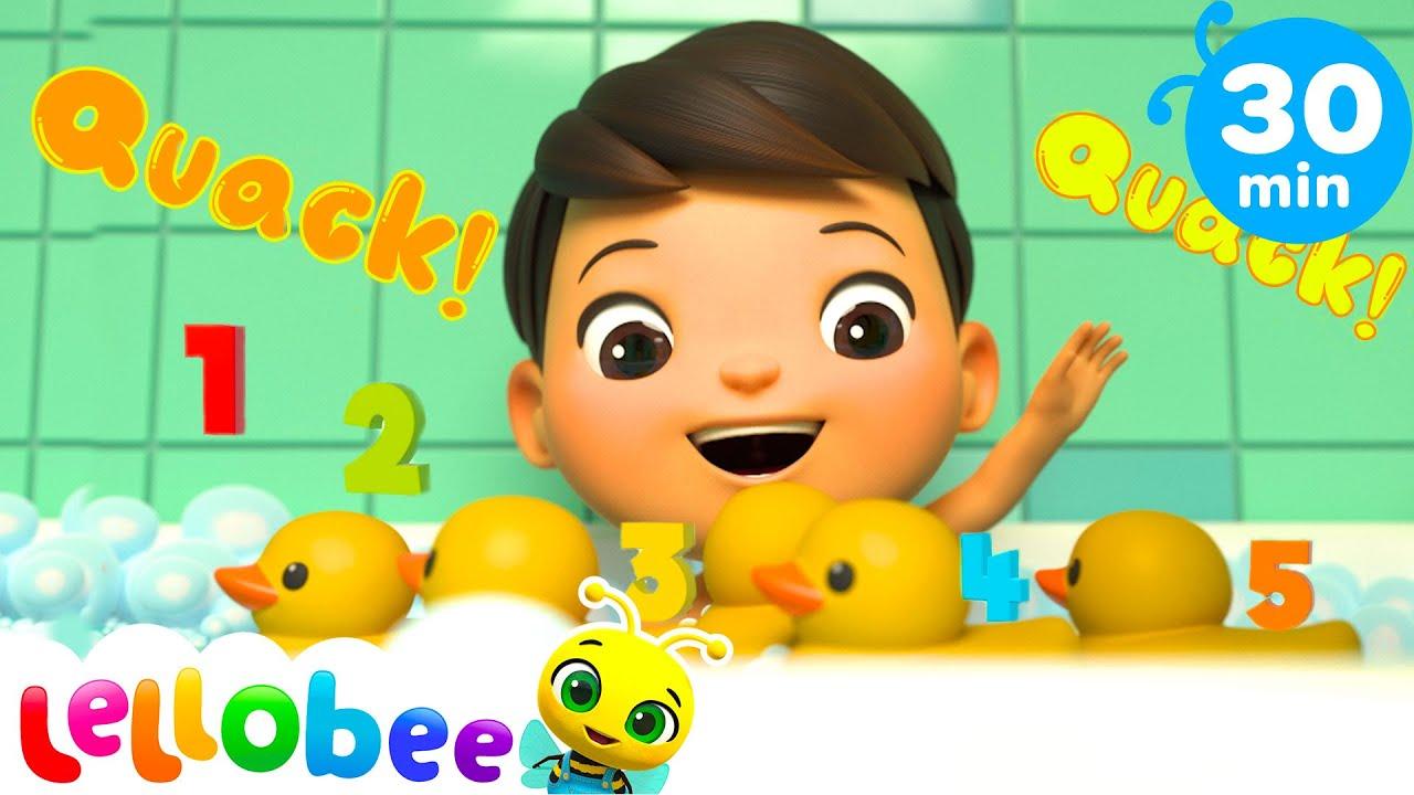 Bath Time With Ollie! - 5 Little Ducks Song   @Lellobee City Farm - Cartoons & Kids Songs