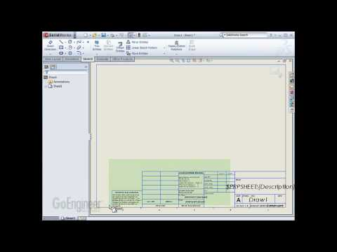 solidworks drawing templates pt 3 of 3 youtube. Black Bedroom Furniture Sets. Home Design Ideas