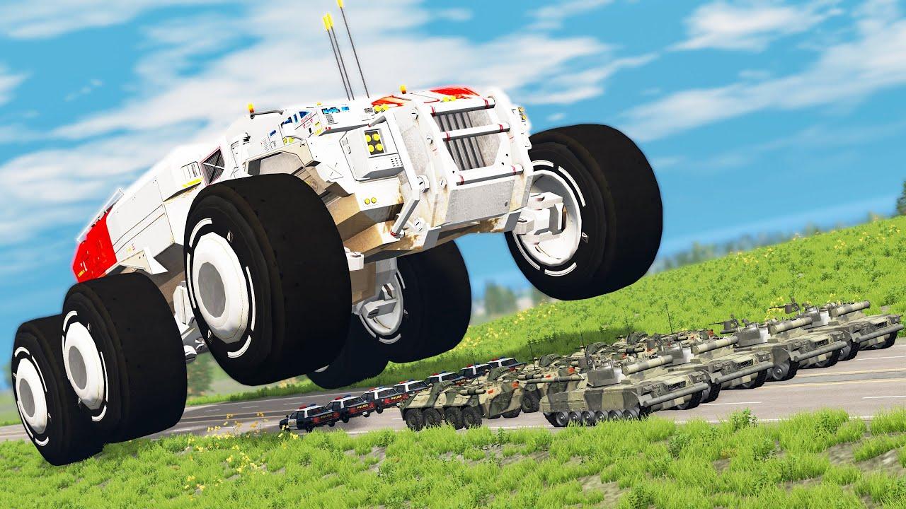 Download Gigantic Monster Machine Smashes Cars (short film) - Beamng drive
