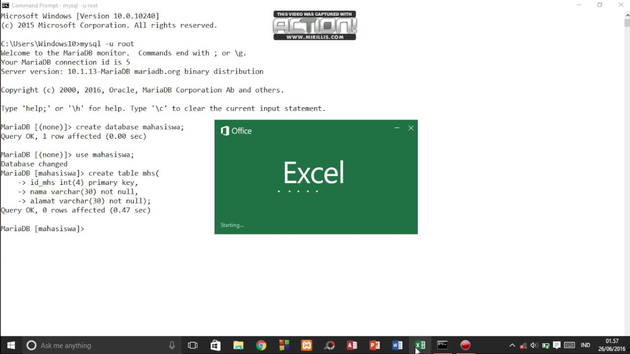 how to open mysql in command prompt