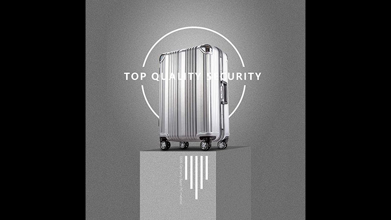 58f3fdc8c94a Coolife Luggage Aluminium Frame Suitcase 3 Piece Set with TSA Lock 100% PC  (BLUE)