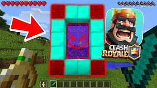 HOW TO MAKE A PORTAL TO EVIL CLASH ROYALE DIMENSION - MINECRAFT CLASH ROYAL