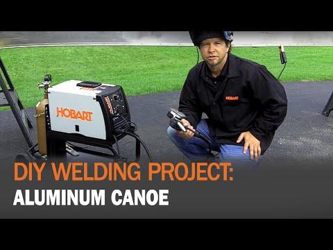 DIY Welding Project: Hobart Handler 210MVP Welding an Aluminum Canoe