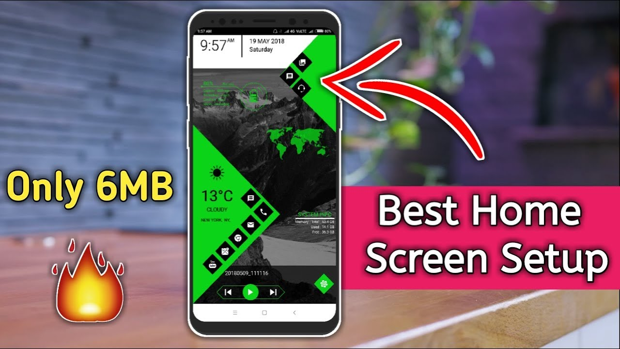 Best Cool Android Home Screen Setup Best Launcher 2018
