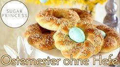 Einfache Osternester aus Quark-Öl-Teig/Ostergebäck ohne Hefe | Rezept von Sugarprincess